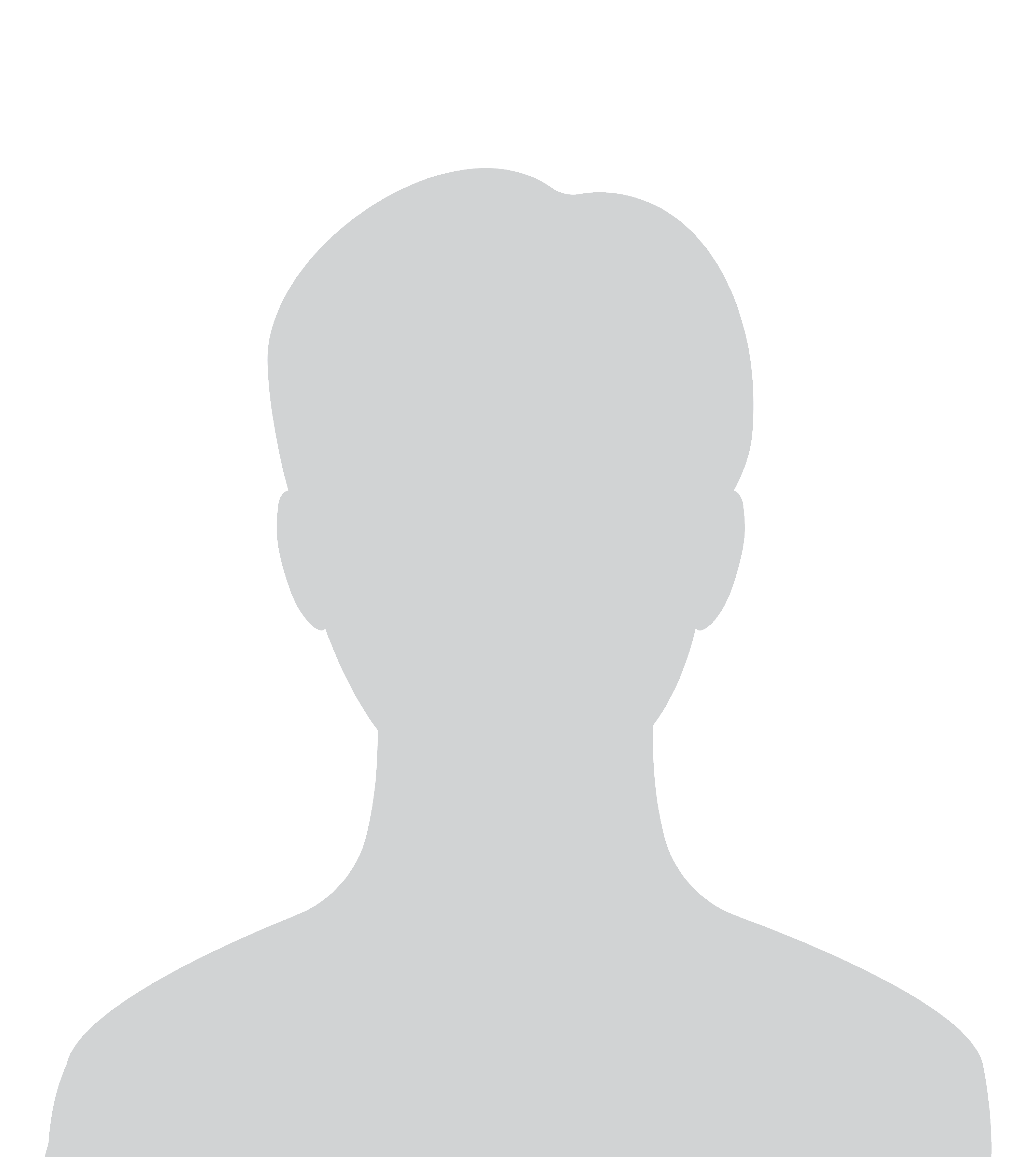 gray placeholder silhouette on white background of person without headshot
